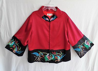 Traditional Chinese Jacket with Equisite Embroidery Size Estimate XL
