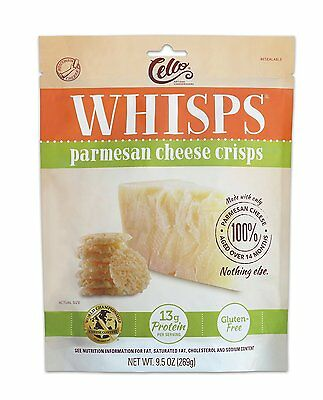 Cello Whisps Parmesan Cheese Crisp, 9.5 Ounce, New, Free Shipping