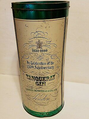 Vintage Barringer Wallis and Manners Mansfield Tanqueray Gin 150th Tin Can