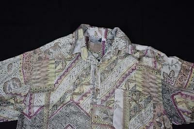 Small Exit Vintage 90's Crazy Patterned Short Sleeve Festival Shirt