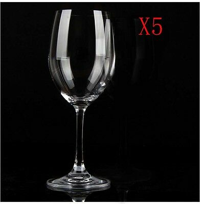 New 5X Capacity 455ML  Height  212MM  Transparent  Red Wine Glass/Glassware %
