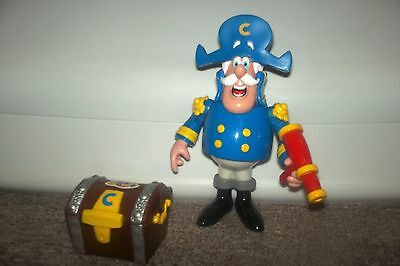 Captain Crunch Cereal Toy Figure with Map, Compass and Treasure Chest 6 inches