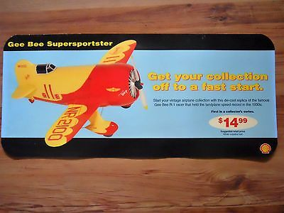 Shell Collector's Series Gee Bee R-1 Supersporster Gas Station Poster
