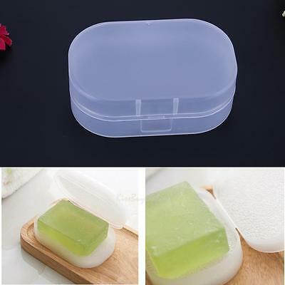 Bathroom Shower Travel Transparent Soap Box Dish Plate Holder Case Container