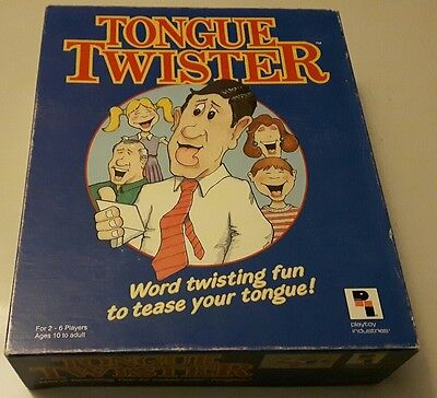 Vintage Tongue Twister Board Game *100% Complete*