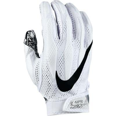 Nike Men's Superbad 4 2017 Football Receiver Gloves GF0627-100 White/Black $55