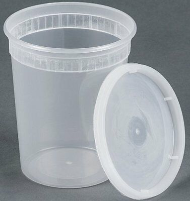 25 sets 32oz plastic soup/Food container with lids, New, Free Shipping