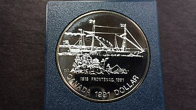 1991 Canada One Dollar Silver Coin - 100th Anniversary Of The Frontenac