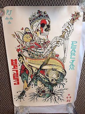 Pearl Jam Poster Werchter Belgium Jeff Soto And Tyler Stout 6/29/12