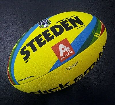 Steeden Symmetry NRL Auckland Nines 9's Full Size Rugby League Match Ball *NEW*