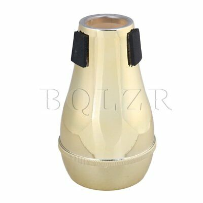 BQLZR Golden ABS Plastic Trumpet Straight Mute Silencer MusicalInstrument Part
