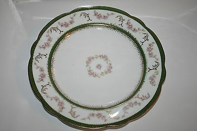 "8.5"" Salad Dessert Plate - Imperial Crown China - Austria Purple Green Flowers"