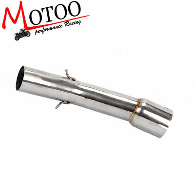 Motorcycle Exhaust Mid-Pipe Round Muffler for YAMAHA FZ1 06-15 without exhaust