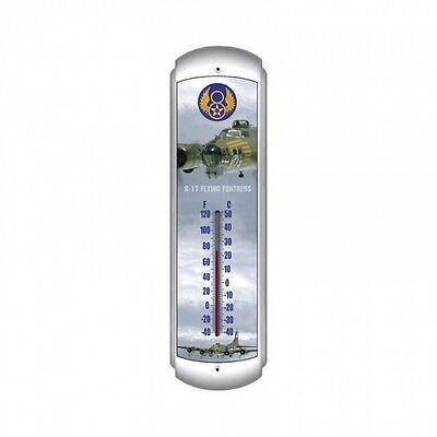 B-17 Flying Fortress Thermometer - Hand Made in the USA with American Steel