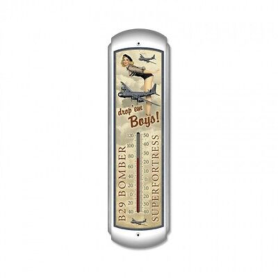 B-29 Bomber Thermometer - Hand Made in the USA with American Steel