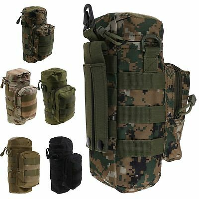 Militray Tactical Molle Zipper Water Bottle Hydration Pouch Bag Hiking Camping