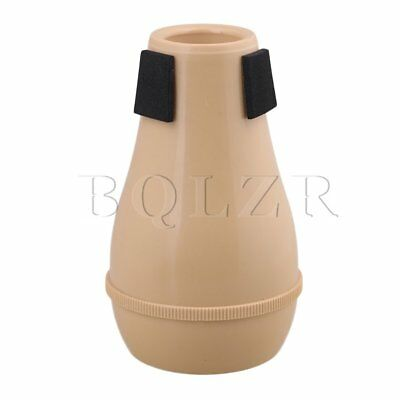 BQLZR Wood Color ABS Plastic Trumpet Straight Mute Silencer Musical Part