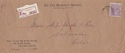 APH11) Australia 1929 Long OHMS Registered Cover