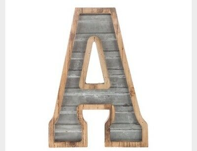 Wood and Galvanized Metal Letter  WALL DECOR XXL BUSINESS LETTERS !