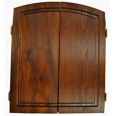 Premium Dartboard Cabinet Solid Pine Mahogany Stain  Made In Usa