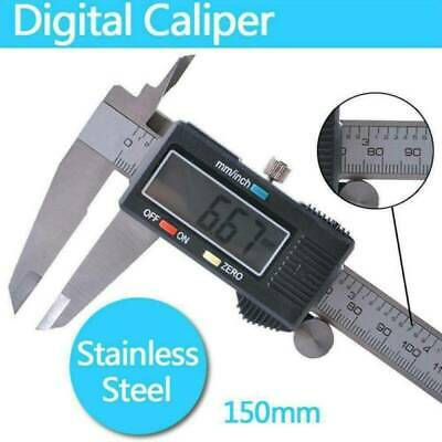 150MM 6inch Carbon Fiber LCD Digital Electronic Vernier Caliper Gauge Micrometer
