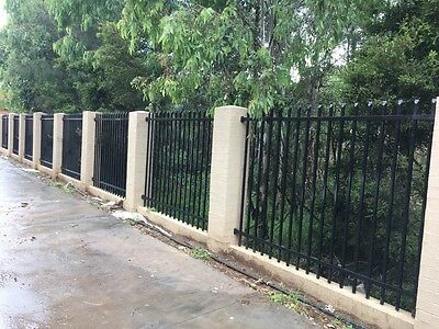 Black Spear Top Steel Security Fence Panel