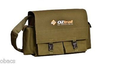 Oztrail Tool Organiser Canvas Satchell Shoulder Bag Side Bags Ripstop Camping