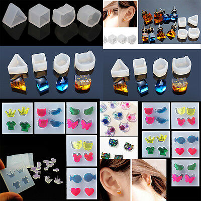 Silicone Earring Mold Mould For Resin Flower Herbarium Jewelry Making Tools