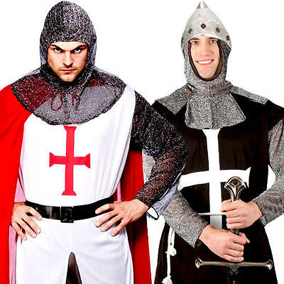 Knight Mens Fancy Dress Fairy Tale Medieval Book Day St George's Adults Costumes