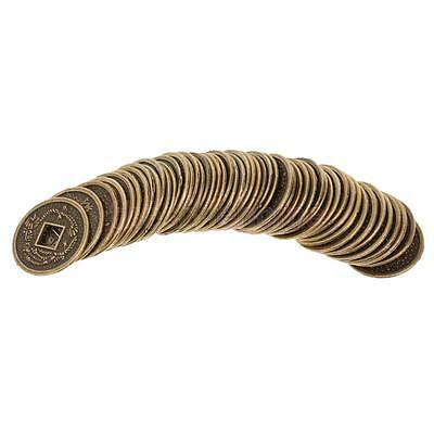 MagiDeal 50pcs Feng Shui Coins Luck Alloy Coin for Chinese Festival 0.78inch