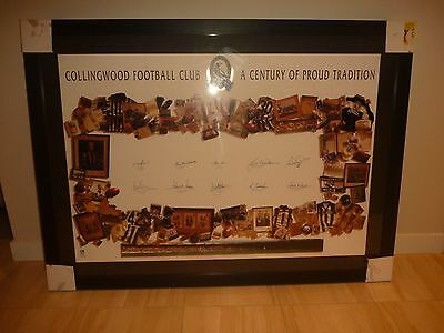 Collingwood Magpies - Signed 'A Century of Proud Tradition' Print in Frame
