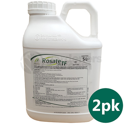 Rosate 360 TF Glyphosate Weedkiller 2 x 5 Litre Strong Professional Herbicide