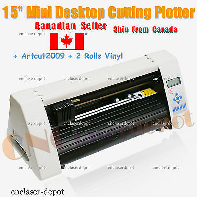 "15"" Mini Desktop Cutting Plotter Vinyl Cutter Starter Kit & Artcut & Vinyl Rolls"