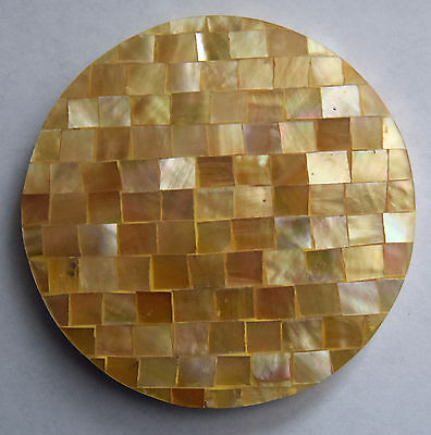 Gold Lip Mother of Pearl Shell Coaster - Hand Crafted