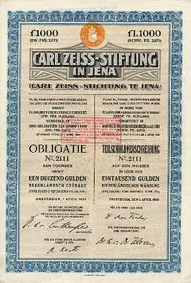 Carl Zeiss - Stiftung in Jena  1926