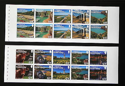 Guernsey 2014 Love The Bailiwick Pair of Booklet Panes SG1525c and SG1530c RARE