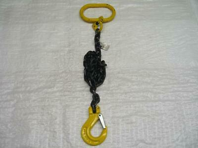 7MM 1 Leg 0.9M Overall 1.5T G80 Chain Sling With Clevis Sling Hook - Lifting