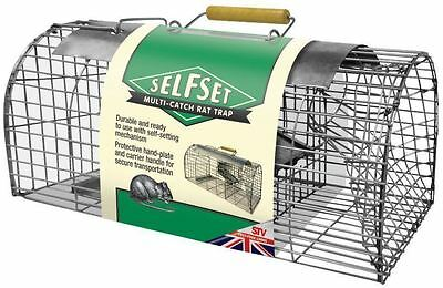 New Selfset Multi Catch Rat Cage Trap Live Catch Metal TVS080