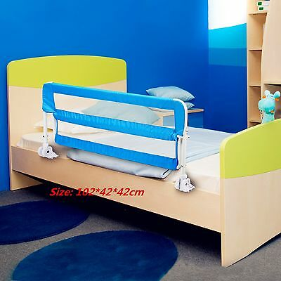 102cm Baby Bed Guard Sleeping Safety Protection Side Rail Child Kid Bedrail Blue