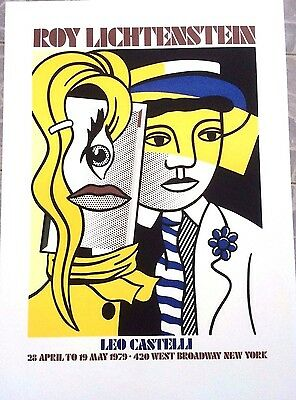 Roy Fox LICHTENSTEIN  Affiche POP ART Editeur Leo CASTELI  1979