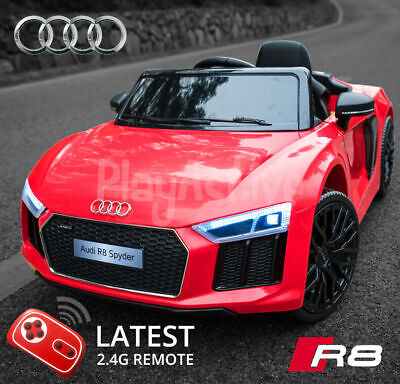 Audi R8 Licensed Kids Ride On Car 12V Twin Motor Battery Remote Control Cars