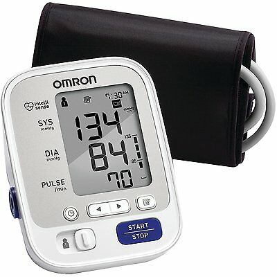 Upper Arm Blood Pressure Monitor with Cuff that fits Standard and Large Arms