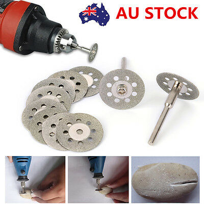 10X 22mm Rotary Cut off Grinding Wheel Cutter Disc Glass Diamond Accessory Tool
