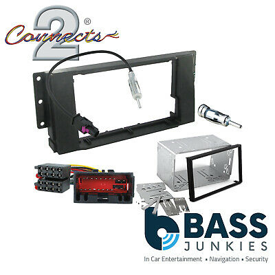 Double Din Car Stereo Fitting Kit Facia Cage Bezel to fit LR Freelander 04-07