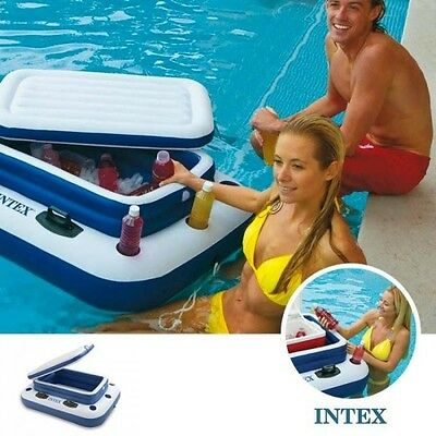 MAXI BOUEE PORTE GLACiERE BOUEE INTEX GONFLABLE PISCINE LAC MER  PLAGES RIVIERE
