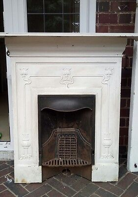 Victorian Cast Iron Bedroom Fireplace Antique: victorian fireplace restoration