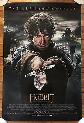THE HOBBIT Battle Of The Five Armies  27x40 DOUBLE SIDED MOVIE POSTER TOLKEIN
