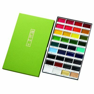 ZIG Kuretake Gansai Tambi Japanese Watercolor Paint 36 Colors Set MC20/36V New