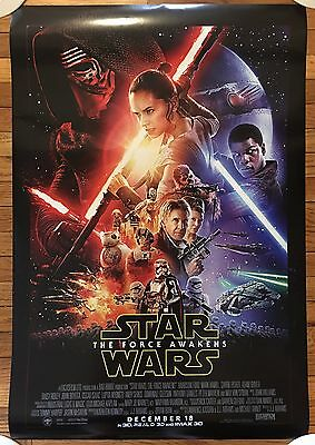STAR WARS The Force Awakens 27x40 DOUBLE SIDED ONE-SHEET MOVIE POSTER UNUSED