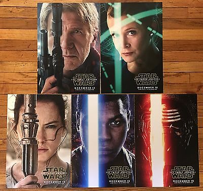STAR WARS The Force Awakens Set 5 Double Sided 13x19 Mini Posters